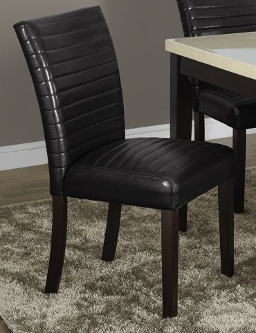"""Dark Brown 38"""" Parson Chair Set of 2"""