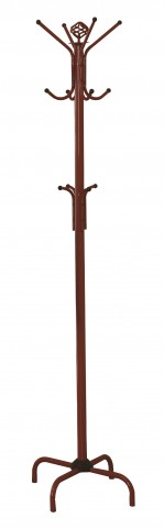 "2008 Red Metal 74"" Coat Rack"
