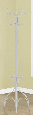 "White Metal 70"" Coat Rack"