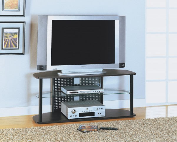 2032 Cappuccino / Black Metal TV Stand