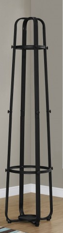 "2052 Black Metal 72"" Coat Rack"