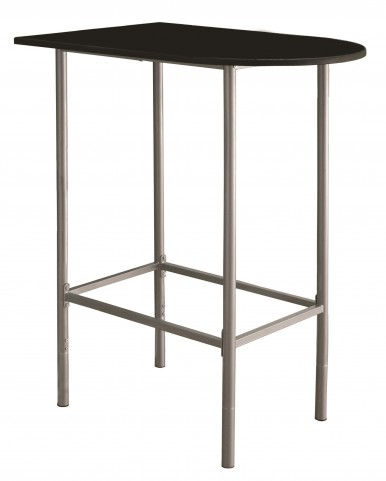 2335 Black / Silver Metal Spacesaver Bar Table