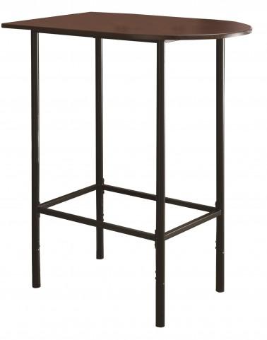 2345 Cappuccino / Black Metal Spacesaver Bar Table
