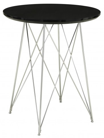2347 Glossy Black / Chrome Metal Bar Table