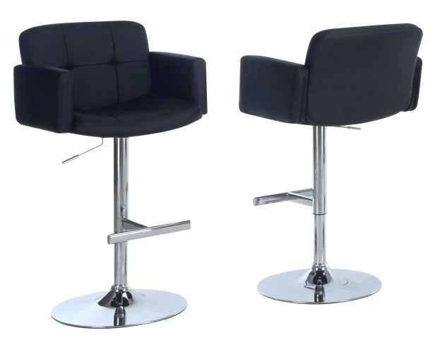 2359 Black / Chrome Metal Hydraulic Lift Barstool