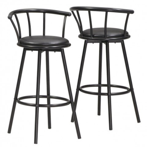 """2400 White Glossy Metal 30"""" Cafe Set of 2"""