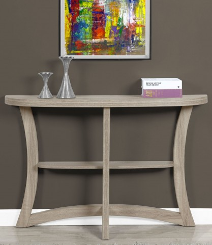 "Dark Taupe 47"" Accent Table"
