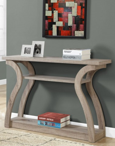 "Dark Taupe 47""Accent Table"