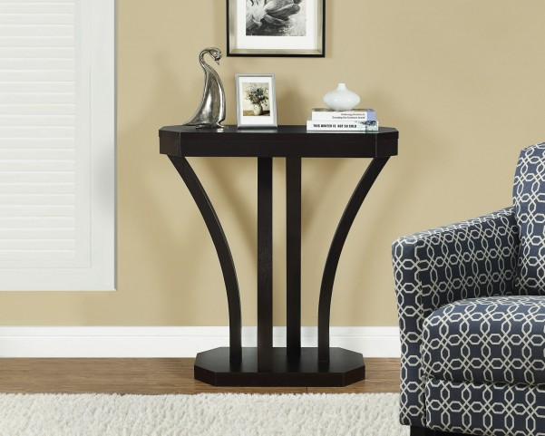 Cappuccino Hall Console Ample Surface Accent Table