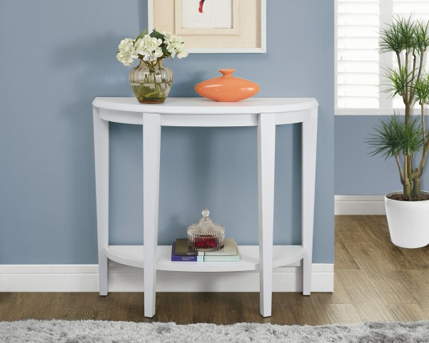 White Hall Modern Curved Console Accent Table