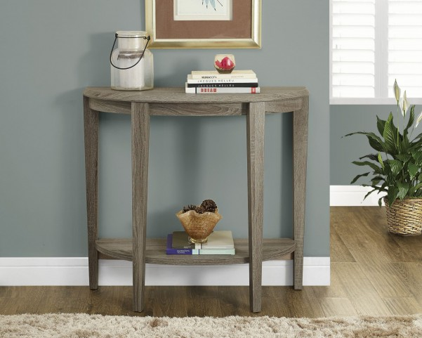 "Dark Taupe Reclaimed-Look 36"" Console Accent Table"