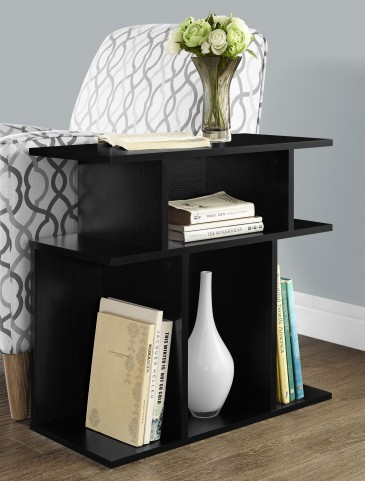 "Black 24"" Tiered Design Accent Table"