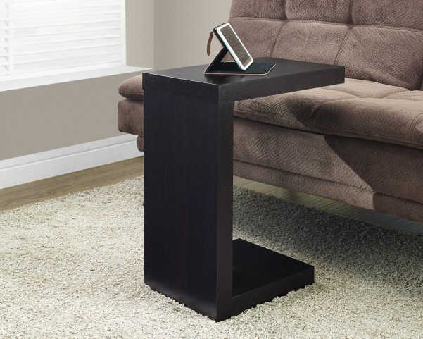 Cappuccino Hollow-Core Accent Table