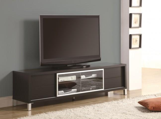 """2530 Cappuccino 70"""" Euro TV Console"""