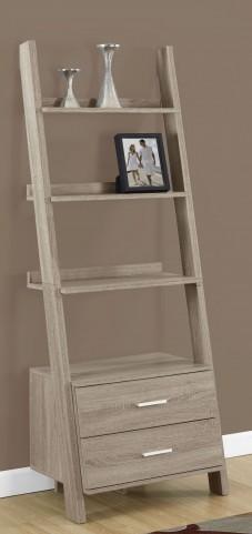 """Dark Taupe 69"""" 2 Drawer Bookcase"""
