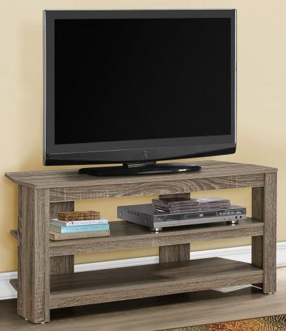 "Dark Taupe 42"" Corner TV Stand"