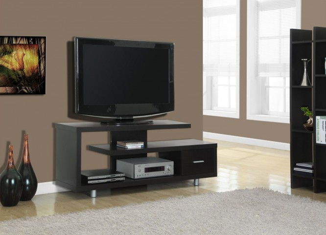 2572 Cappuccino Hollow-Core TV Console