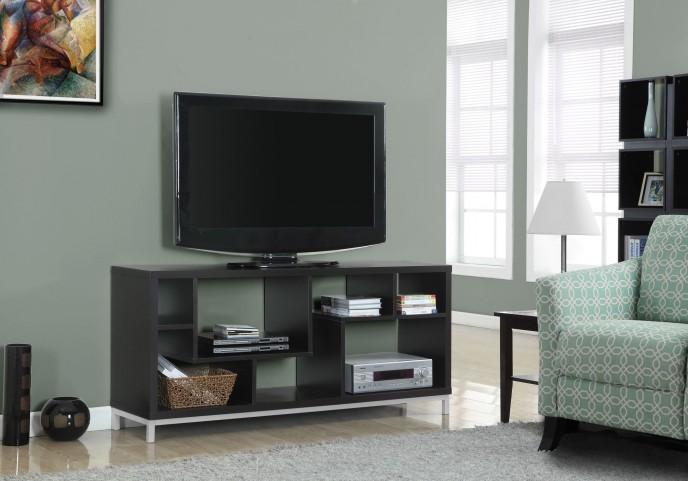 2576 Cappuccino Hollow-Core TV Console