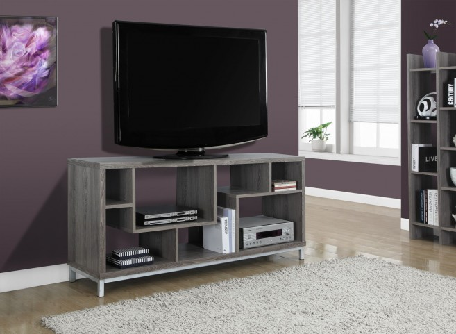 Dark Taupe Reclaimed TV Console