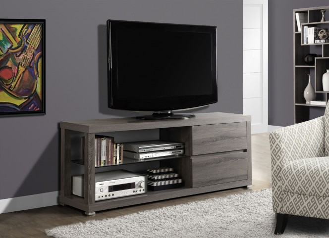 Dark Taupe Reclaimed-Look TV Stand
