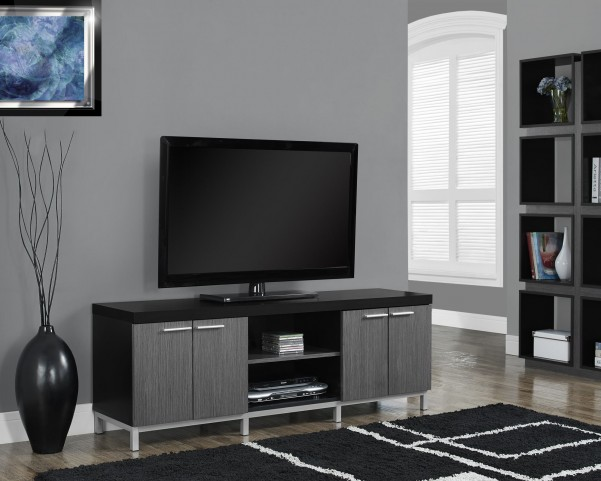 Black/gray Hollow-Core TV Console