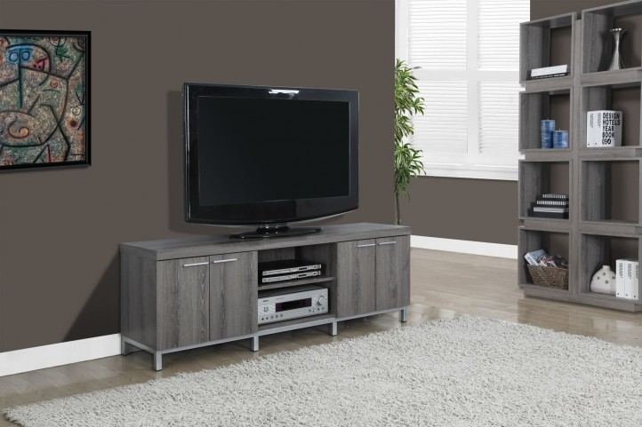 Dark Taupe Reclaimed Look TV Stand