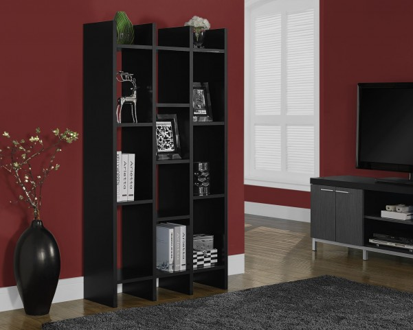 "Black Hollow-Core 60"" Horizontal/Vertical Etagere"