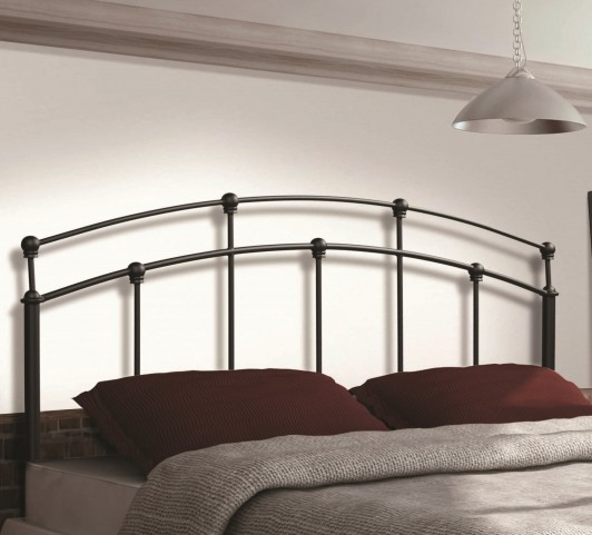 2628Q Gun Black Queen/Full Size Size Headboard / Footboard