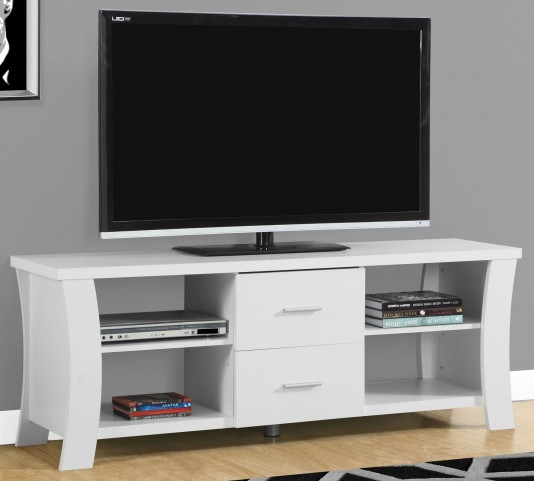 """2684 White 60"""" TV Stand"""