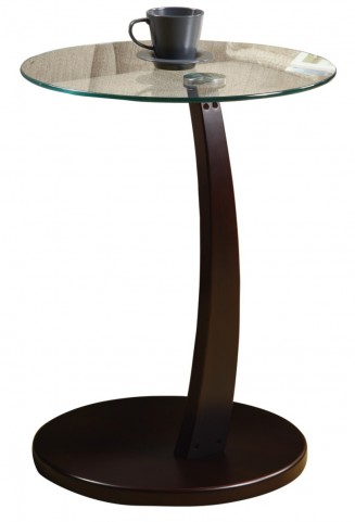 3001 Cappuccino Bentwood Accent Table