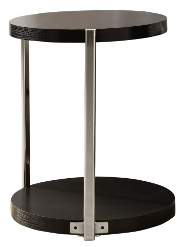 3005 Cappuccino / Chrome Accent Table