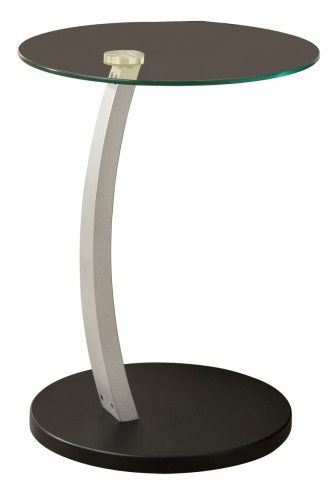 3009 Black / Silver Bentwood Accent Table