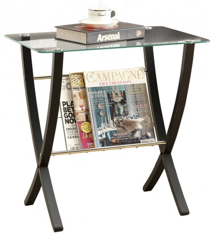 3021 Cappuccino Bentwood Magazine Table