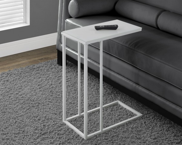 White Metal Accent Table