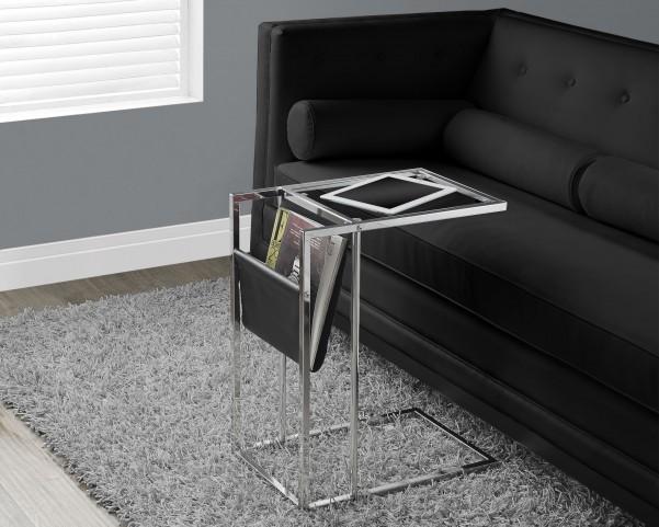 Black/Chrome Metal Accent Table