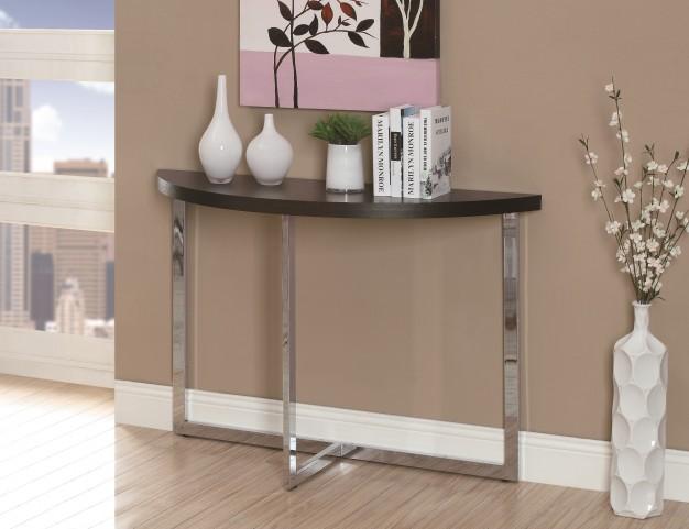 3039 Cappuccino / Chrome Metal Sofa Console Table