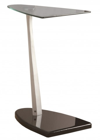 3047 Black / Silver Accent Table