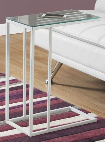 White Mirror Top Accent Table