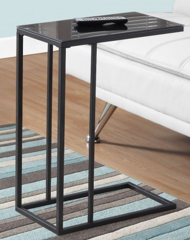 3087 Black Tempered Glass Accent Table