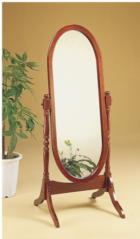 3101 Walnut Oval Cheval Mirror