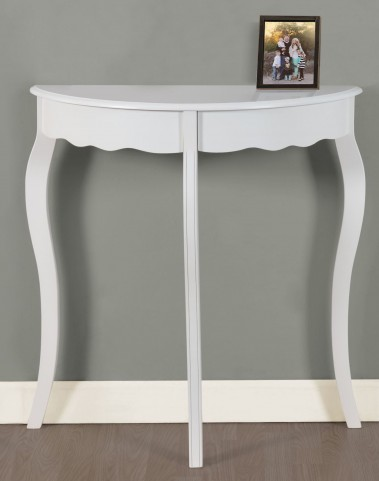 "Antique White 31"" Accent Table"