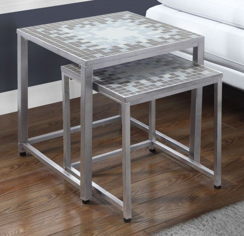 Gray 2 Piece Nesting Table