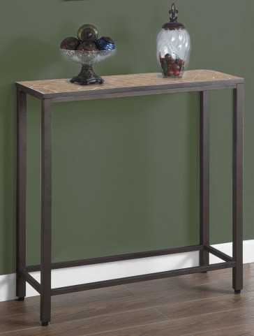 Terracotta Tile Top Console Table