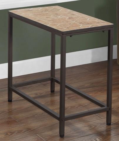 Terracotta Tile Top Rectangular Accent Table