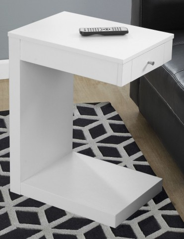 White Drawer Accent Table