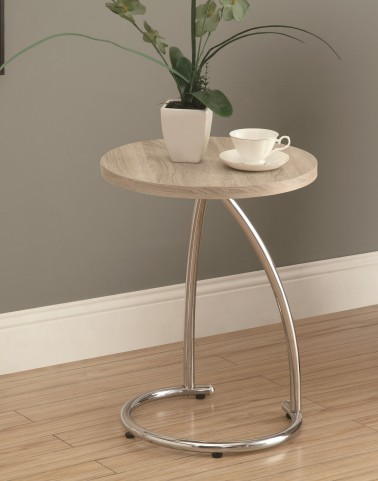 3209 Natural / Chrome Metal Accent Table