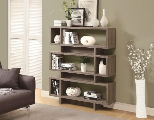"3251 Dark Taupe 55"" Bookcase"