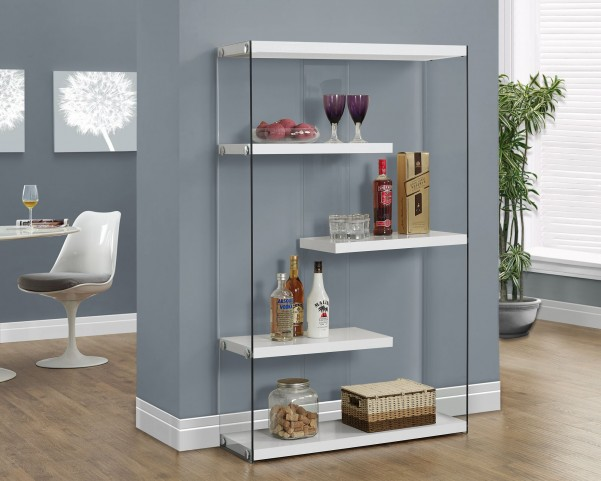 "Glossy Hollow-Core 60"" Bookcase"