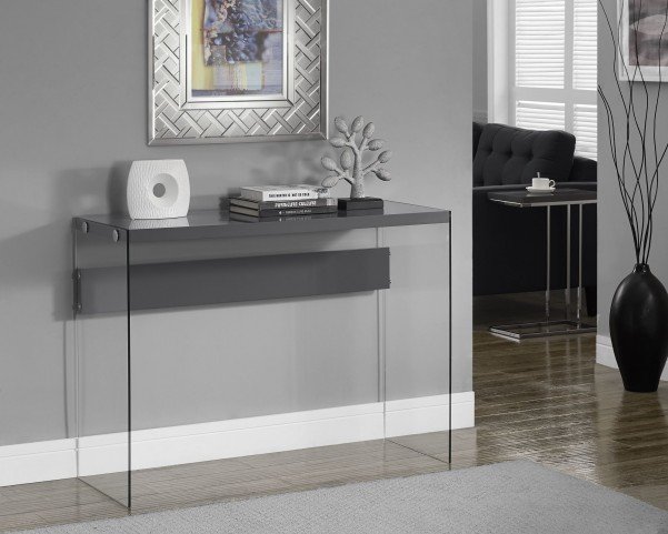 Glossy gray Hollow-Core Sofa Table