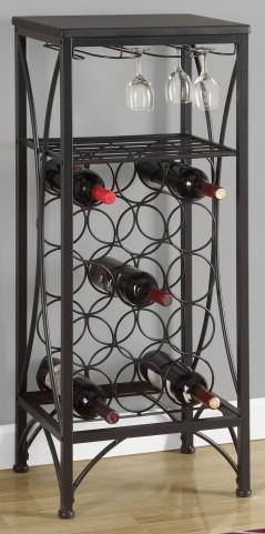 "Black Metal 40"" Home Bar Cabinet"